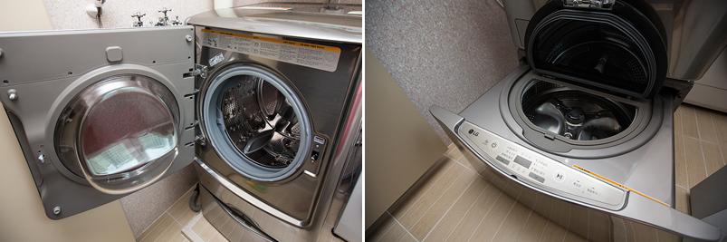 트윈워시 세탁기를 설치한 모습