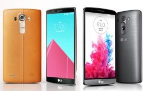 'LG G4(왼쪽)', 'LG G3(오른쪽)' 제품 이미지 입니다.