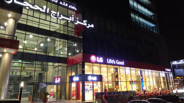 LG전자가 요르단의 수도 암만 시내의 프리미엄 가전 상권인 메카 스트리트(Mecca Street)에 오픈한 프리미엄 브랜드샵 모습 입니다.