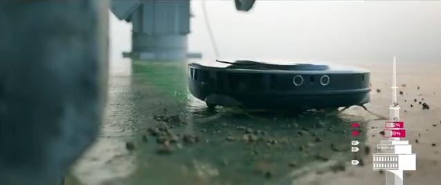스마트 인터버 모터를 탑재해 강력한 모터회전으로 큰 입자의 돌가루까지 흡입하는 로보킹