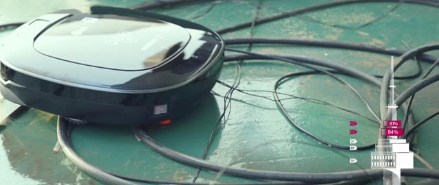 '자동탈출기능'을 이용, 장애물에 구애 받지 않고 깔끔히 청소하는 로보킹