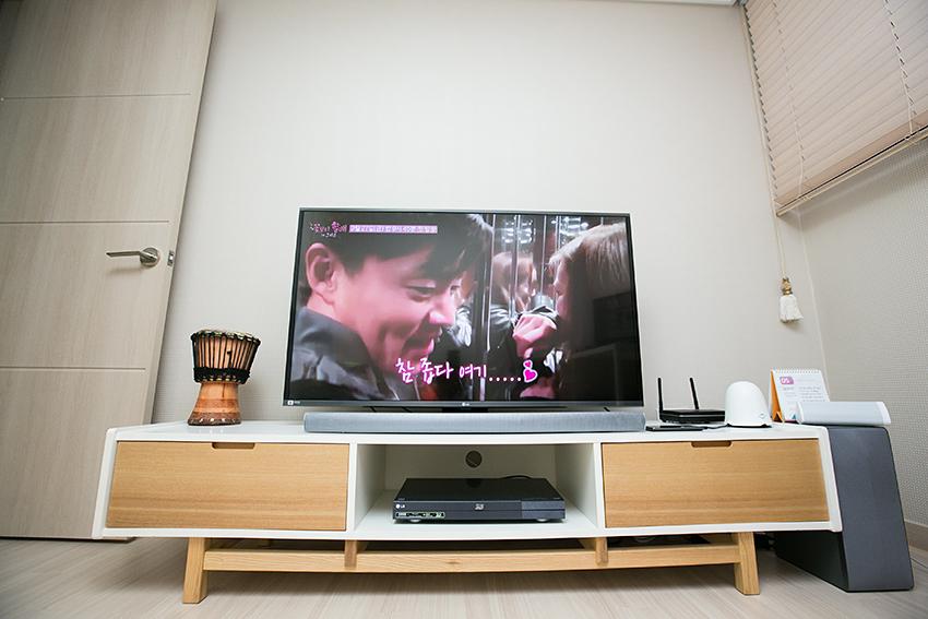 LG전자 TV 화면의 모습