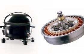 LG전자 인버터 리니어 컴프레서(왼쪽)와 LG전자 DD모터(오른쪽) 이미지 입니다.
