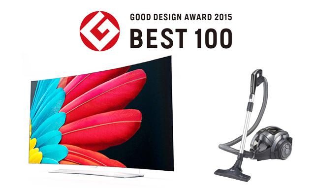'Best 100 design'으로 선정된 울트라 올레드 TV와 코드제로 싸이킹 이미지 입니다.