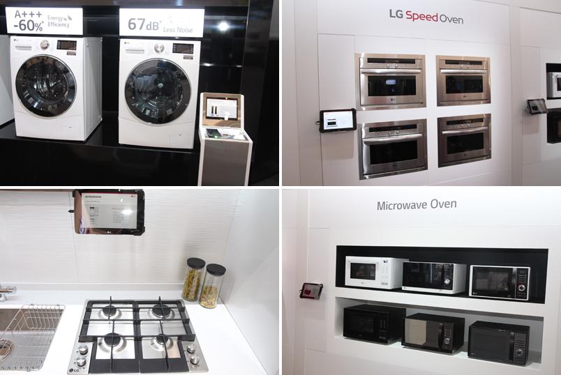 LG전자 부스에 전시된 가전제품들