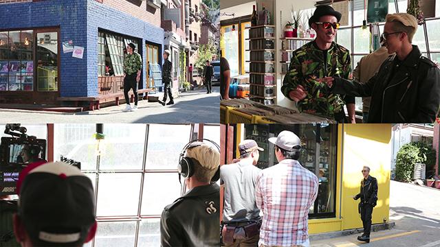 LG V10 라이프스타일 영상 촬영 중 레코드점 씬의 자이언티.