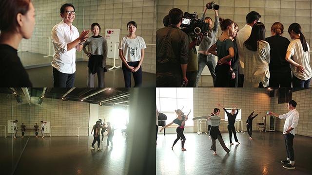 LG V10 라이프스타일 영상 촬영 중 연극 연출 씬의 장진.