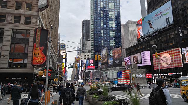 뉴욕의 상징 타임스퀘어의 모습