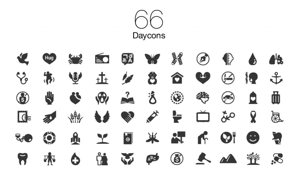 66개 국제 기념일 아이콘