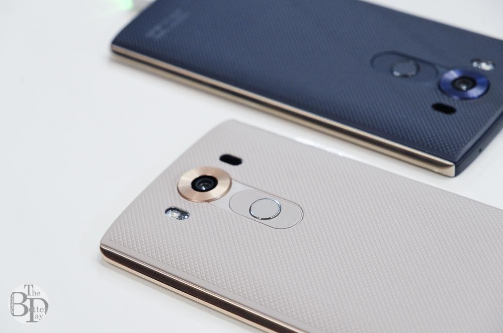 LG V10에 적용된 스테인리스 스틸 316L가 돋보이는 사진