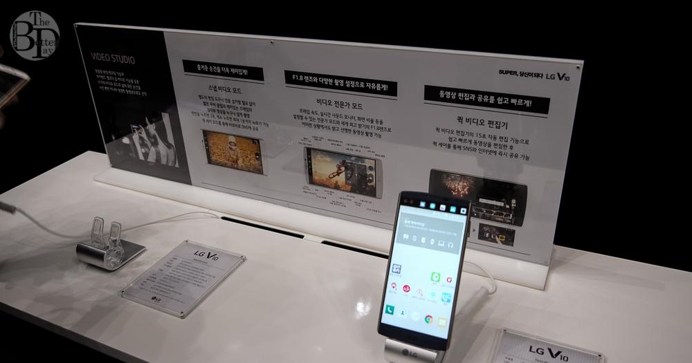 LG V10의 스냅 비디오 모드, 비디오 전문가 모드, 퀵 비디오 편집기 기능 설명이 나와 있다.