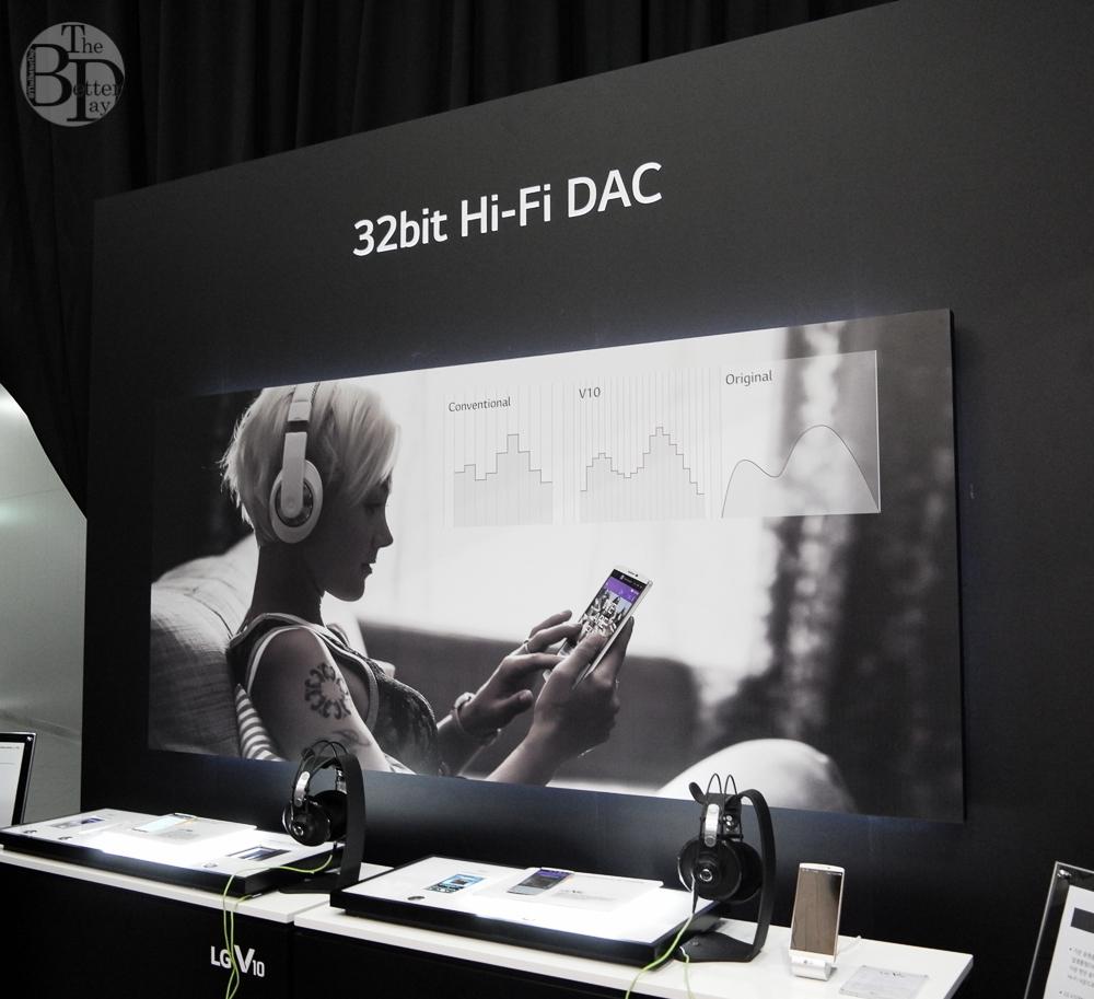 '32bit Hi-Fi DAC 사운드'를 체험할 수 있는 다섯번째 존(zone)의 모습