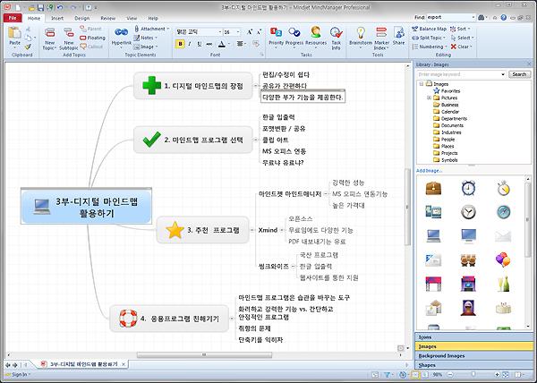 마인드매니저로 디지털 마인드맵 만들기