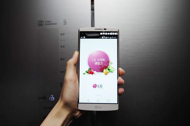 김치톡톡 냉장고와 NFC연결 모습