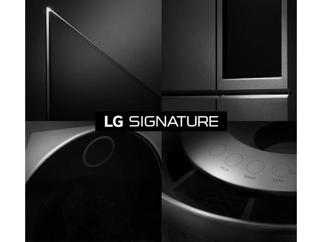 'LG 시그니처' 제품 이미지, 브랜드 로고 이미지 입니다.