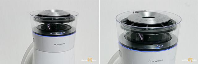 간편하게 물보충을 할 수 있는 상부급수방식을 채택한 모습
