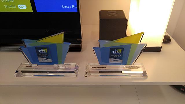 LG는 CES 2016 Award 2관왕 수상했다