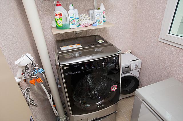 세탁기를 온도가 영하로 내려가지 않는 곳에 설치 하는 것이 중요