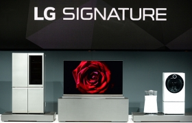 LG전자의 초프리미엄 가전 시장 공략을 위한 통합 브랜드인 'LG 시그니처' 제품 이미지