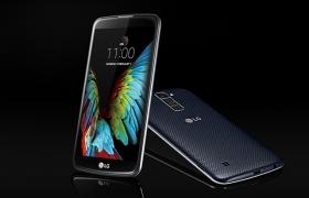 LG전자가 세계 최대 가전전시회 'CES 2016'에서 공개한 보급형 스마트폰 'K10' 제품 이미지 입니다.