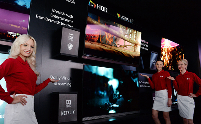 LG전자가 'CES 2016'에서 세계적인 영상 컨텐츠 업체들과 손잡고 다양한 HDR(High Dynamic Range) 영상을 시연하고 있습니다.
