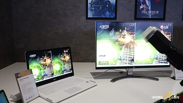 풀 HD보다 4배 높은 해상도인 울트라 HD(3840x2160)를 적용한 16:9 화면비의 4K 모니터 신제품