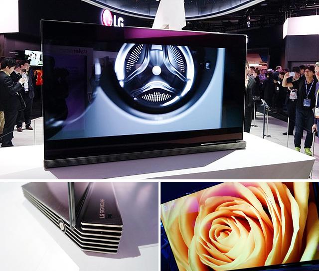 LG 시그니처 올레드TV가 전시된 모습