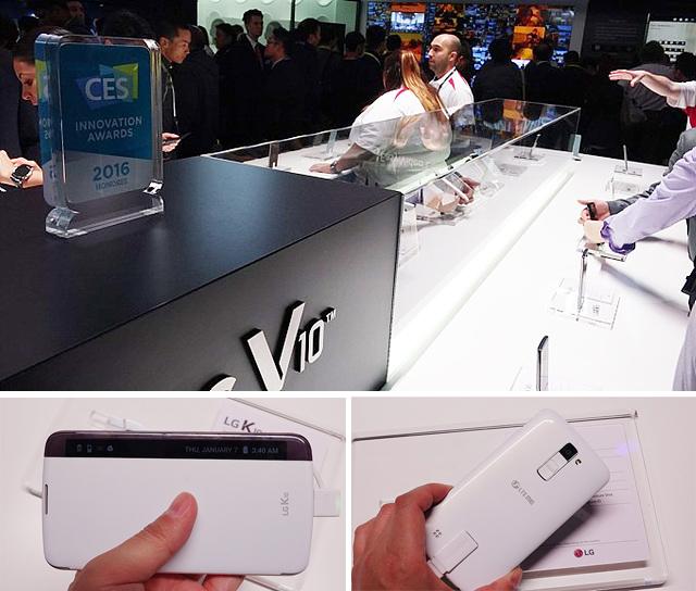 V10부스와 보급형 스마트폰 K10의 모습