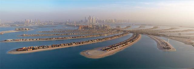 두바이 인공섬의 모습