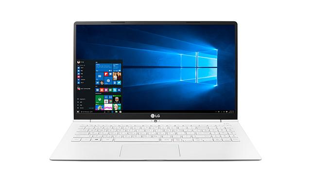 LG전자 노트북 그램15 제품의 정면 모습