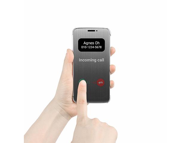 LG전자가 공개한 전략 스마트폰 'G5' 전용 케이스 '퀵 커버' 이미지 입니다.