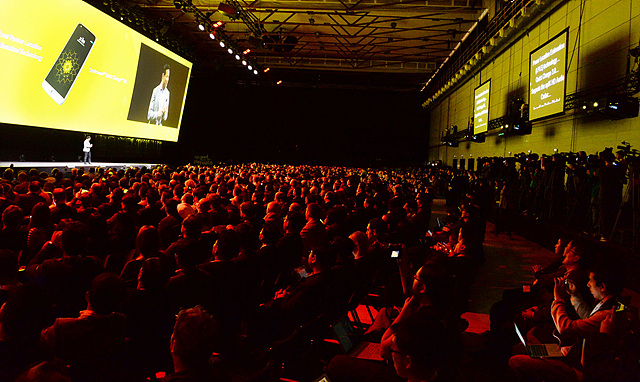 LG전자는 21일 스페인 바르셀로나 산 호르디 클럽(Sant Jordi Club)에서 LG G5 공개행사를 열었다.