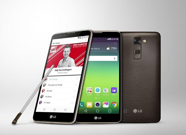 스마트폰 최초로 차세대 방송규격인 'DAB(Digital Audio Broadcasting)+'을 지원하는 LG전자 '스타일러스 2'