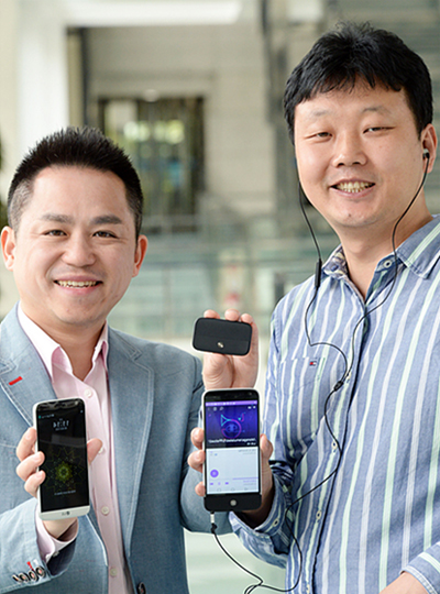 LG 하이파이 플러스 개발자 -  MC연구소 김병준 과장, 백창우 책임