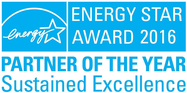 LG전자가 3년 연속 수상한 美 '에너지스타 어워드'의'올해의 파트너-지속가능 최우수상' 로고