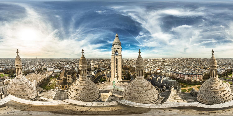LG 360 월페이퍼 - 프랑스 사크레쾨르 대성당에서 본 파리전경
