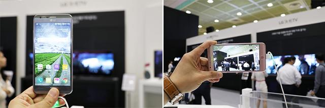 LG 스타일러스2, X스크린, X캠 등의 중저가 스마트폰 또한 만나볼 수 있었습니다.