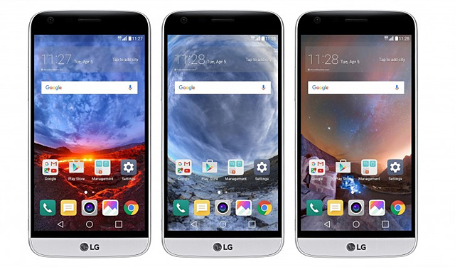 LG 스마트월드의 다양한 360도 월페이퍼 이미지