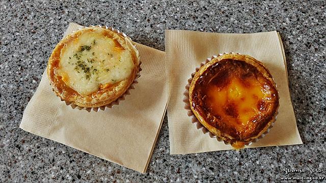 맘앤타르트의 치즈에그타르트와 에그타르트 이미지