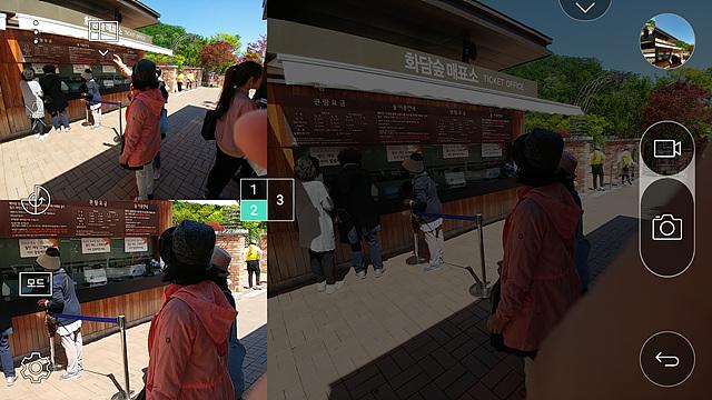 G5의 멀티뷰 모드를 이용해서 콜라주 이미지도 만들 수 있습니다.