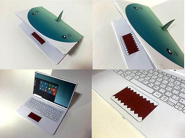나만의 페이퍼 그램 이벤트 참가자가 상어 모형으로 만든 '상어다그램' 이미지