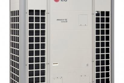 LGE_시스템에어컨_제품: 단일 제품 기준 세계 최대 용량인 32마력의 시스템에어컨 '멀티브이 슈퍼5'의 모습