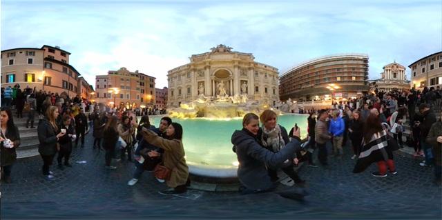 LG 360 CAM으로 촬영한 로마 트레비 분수