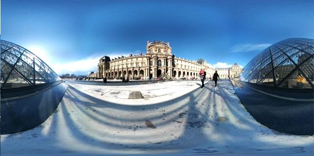 LG 360 캠으로 촬영한 파리 루브르박물관