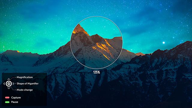 웹OS 3.0에서는 원하는 부분을 확대하여 볼 수 있습니다.