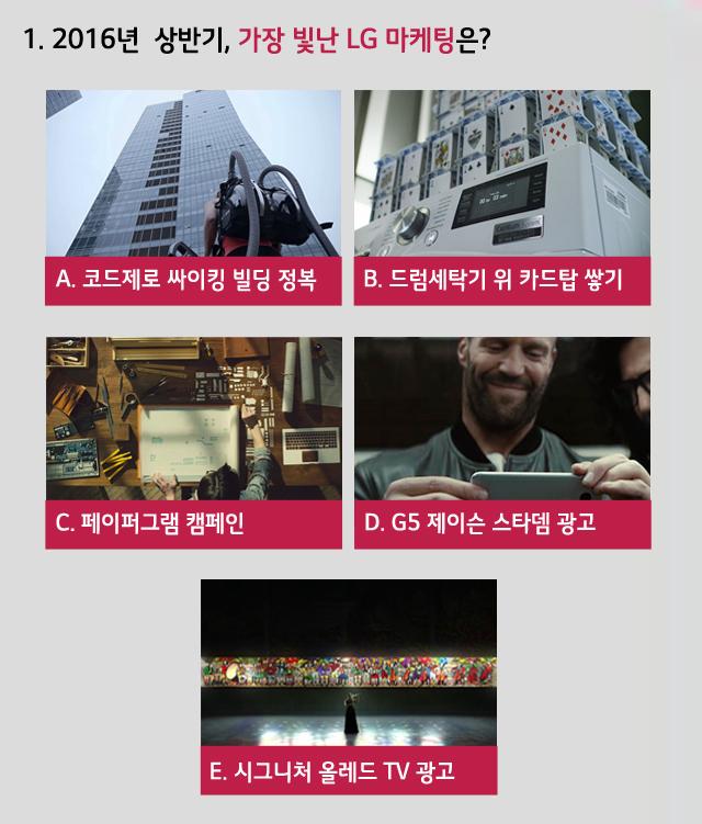 1.2016년 상반기, 가장 빛난 LG 마케팅은?