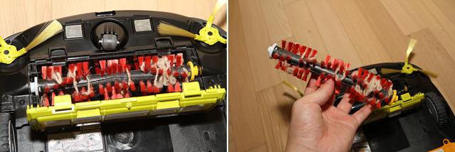LG 로봇청소기 로보킹 메인 브러시의 모습이다.