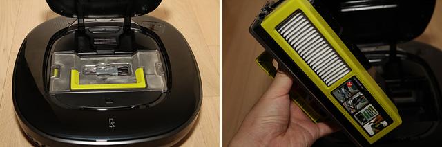 LG 로봇청소기 로보킹 내부의 모습입니다.
