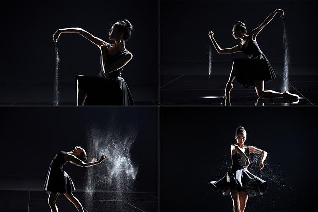 은가루를 이용해 표현하는 발레리나 김슬기 씨 모습