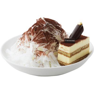 티라미수 케이크 빙수 이미지